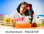 chemist in the lab... | Shutterstock . vector #90618769