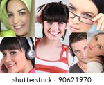 young people smiling | Shutterstock . vector #90621970