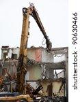 demolition of flats using... | Shutterstock . vector #90630466