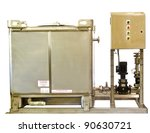 an industrial mixing tank for... | Shutterstock . vector #90630721