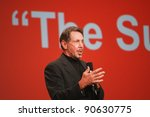 Small photo of SAN FRANCISCO, CA, OCT 2, 2011 - CEO of Oracle Larry Ellison makes his first speech at Oracle OpenWorld conference on Oct 2, 2011. He is the third in the Forbes list of richest US persons