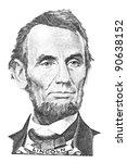 Portrait Of Abraham Lincoln In...