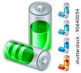 vector illustration of battery... | Shutterstock .eps vector #90640054