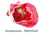 Stock photo roses valentine s bouquet isolated on white background 90653263
