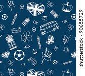uk themed seamless pattern | Shutterstock .eps vector #90655729