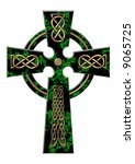 Cross From A Green Marble With...