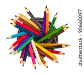 Colored Pencils In Holder Top...