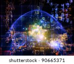 interplay of numbers  abstract... | Shutterstock . vector #90665371
