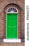 green front door. | Shutterstock . vector #90666157