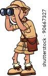 Cartoon Safari Explorer With...
