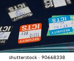 stick on security stamps on... | Shutterstock . vector #90668338