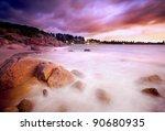 Beautiful Australian Beach Sunrise - stock photo