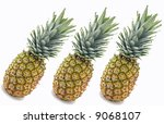 pineapples isolated on white...   Shutterstock . vector #9068107