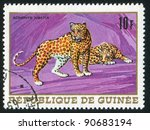 guinea   circa 1968  a stamp...   Shutterstock . vector #90683194