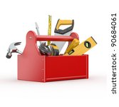 Toolbox With Tools. Skrewdrive...