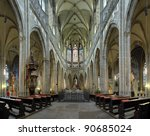 Interior Of St. Vitus Cathedral ...
