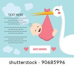 Baby Shower Card. Vector...
