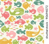 seamless pattern with colorful... | Shutterstock .eps vector #90694072