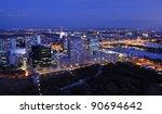 Vienna at night - stock photo