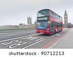 westminster bridge across... | Shutterstock . vector #90712213