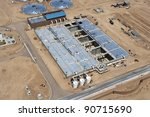Construction at Water Reclamation Facility - stock photo