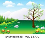 abstract nature background... | Shutterstock .eps vector #90715777