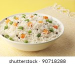 basmati rice with vegetables    Shutterstock . vector #90718288