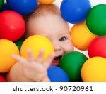 Portrait Of A Smiling Infant...