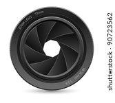 illustration of camera lens  on ... | Shutterstock .eps vector #90723562