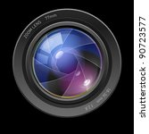 photo lens. illustration on... | Shutterstock .eps vector #90723577