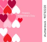 abstract valentine background... | Shutterstock .eps vector #90732220