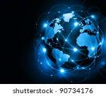 best internet concept of global ... | Shutterstock . vector #90734176