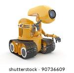 Futuristic Robot Talk. ...