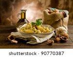 italian regional dish made of... | Shutterstock . vector #90770387