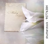 wedding invitation card with...   Shutterstock . vector #90776384