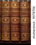 three old encyclopedia books on ... | Shutterstock . vector #9078706