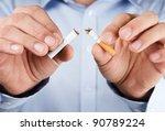 quit smoking  human hands... | Shutterstock . vector #90789224