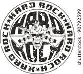 press hard rock with an... | Shutterstock .eps vector #90792599