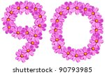 Letters flower alphabet isolated on white - stock photo
