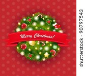 xmas vintage composition ...   Shutterstock .eps vector #90797543