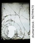 Old Cracked And Broken Window...