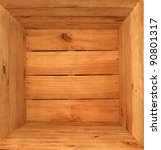 Inside a wooden box - stock photo