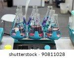 Shaker for Erlenmeyer flasks - stock photo