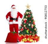 happy traditional santa claus.... | Shutterstock . vector #90812753