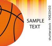 basketball ball with orange... | Shutterstock .eps vector #90820433