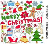 merry christmas holiday... | Shutterstock .eps vector #90826316