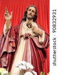sacred heart of jesus | Shutterstock . vector #90832931