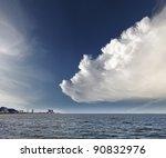 Large Dramatic Cumulus Cloud...