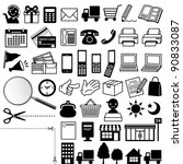 web icons | Shutterstock .eps vector #90833087