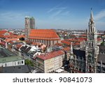 munich  germany   town hall and ... | Shutterstock . vector #90841073